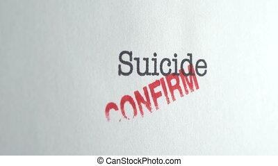 pousse, suicide, chariot, confirmer