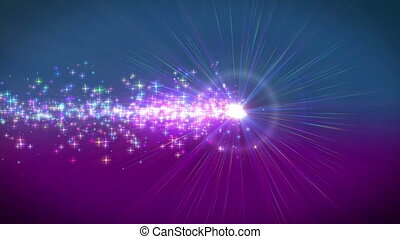 poussière, mouvement, étoiles, particule, ligne
