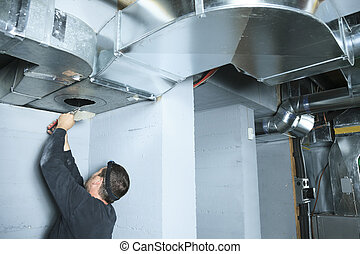 poussière, nettoyeur, ventilation, it., chèque