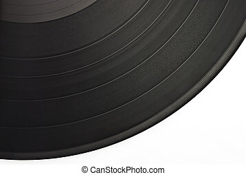 poussiéreux, gratté, vieux, disque vinyle