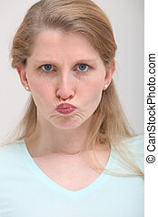 Pouting Girl With Blonde Hair