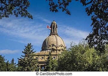pouvoir législatif alberta, bâtiment