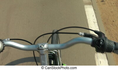 pov bicycle - Shot of pov bicycle