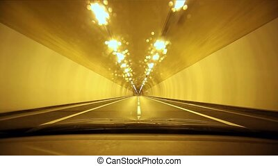 POV driving in tunnel