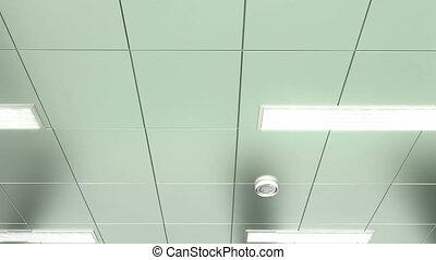 pov, hôpital, plafond