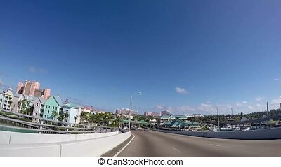 POV of downtown Bahamas that is the main financial district....