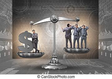 povero, differenza, fra, ricco, persone