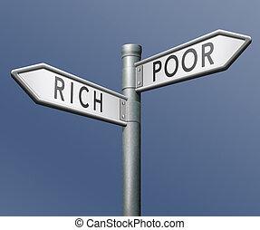 povero, o, ricco