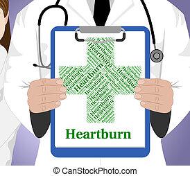 povero, parola, bruciore di stomaco, indica, salute,...