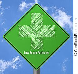 povero, rappresenta, pressione, salute, basso, annuncio...