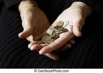 poverty - money concept, special toned photo f/x, focus...
