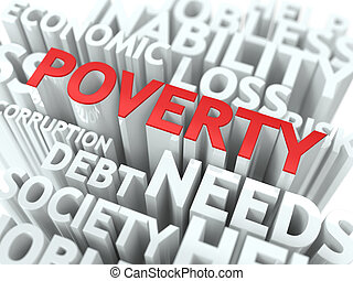 Poverty. The Wordcloud Concept.