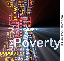 Poverty word cloud box package