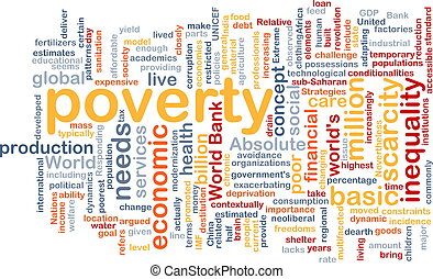 poverty wordcloud concept illustration