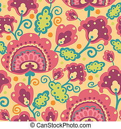 povo, padrão, flores, seamless, fundo