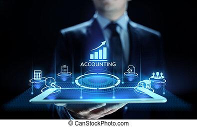 povolání, účetnictví, finance, bankovnictví, concept., kalkulace, účetnictví