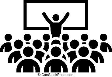 povolání, coaching, concept., icon.