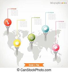 povolání, infographics, vektor, ilustrace, jako, prapor, diagram, pavučina konstruovat, infographic, presentation.