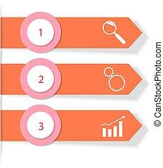 povolání, infographics., vektor, ilustrace, mapování, stages.