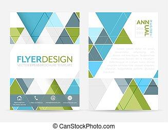 povolání, korporační, pattern., nebo, letec, a4, brožura, size., prapor, geometrický, šablona