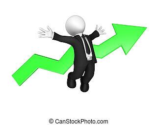 povolání, národ., nárůst, malý, concept., 3