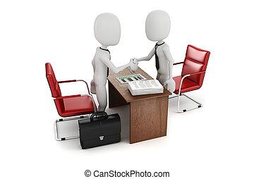 povolání, zaměstnání, setkání, interview, voják, 3