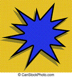 Pow! - blank starburst abstract in the pop art style