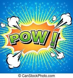 Pow! Comic Speech Bubble