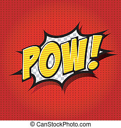 Pow! Comic Speech Bubble - Comic Speech Bubble, Cartoon....