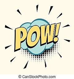 pow comic word