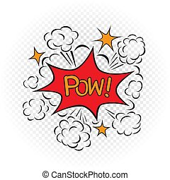 pow explode cartoon illustration