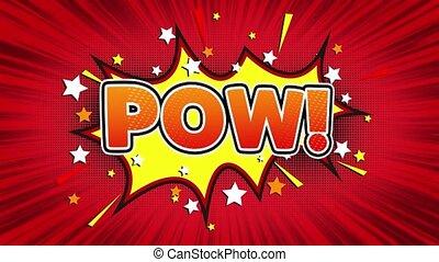 Pow Text Pop Art Style Comic Expression. - Pow! Text Pop Art...