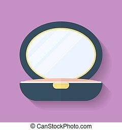 Powder box icon. Flat style