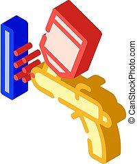 powder coating isometric icon vector isolated illustration