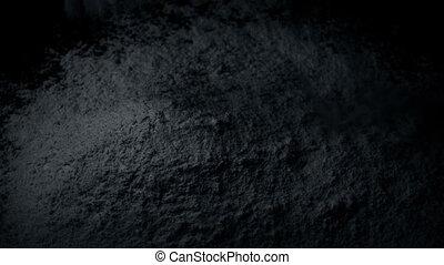 Powder Is Poured Into Pile - powder pours into pile closeup...