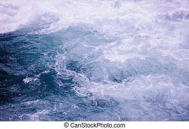 poweful blue water stream