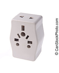 Power Adapter on background.