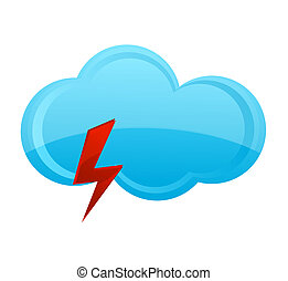power and weather blue cloud symbol