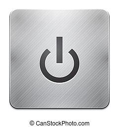 Vector mobile phone app power icon