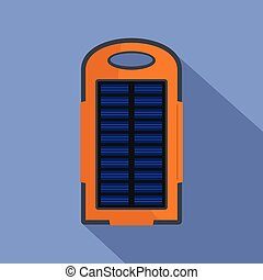 Power battery icon, flat style