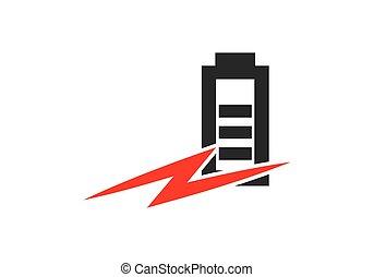 Power battery logo