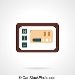 Power bike panel vector icon