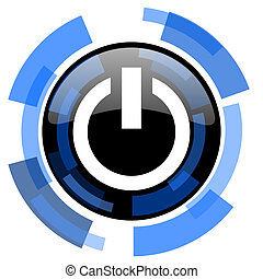 power black blue glossy web icon