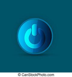 power blue button
