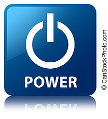 Power blue square button