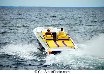 Power Boating on a lake