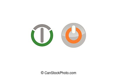 Power Button Business Success Solution Set