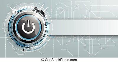 Power Button Circuit Board Banner