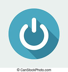 Power button flat icon