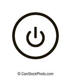 Power button icon isolated on white background. Vector illustration
